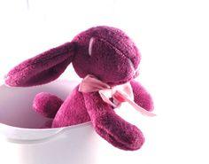 Plush bunny rabbit stuffed purple radiant orchid   by MySofties, Ft6360.00