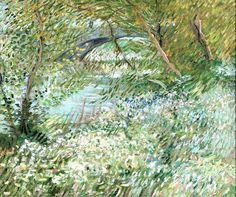 River Bank in Springtime, 1887. Vincent van Gogh.