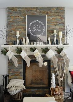 picture-of-neutral-stockings-with-evergreens-small-trees-and-fluffy-pillows