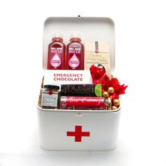 First Aid Tin Gift Basket. A fun way to raise someone's spirits :)