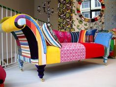 1000 images about funky painted upholstered furniture. Black Bedroom Furniture Sets. Home Design Ideas