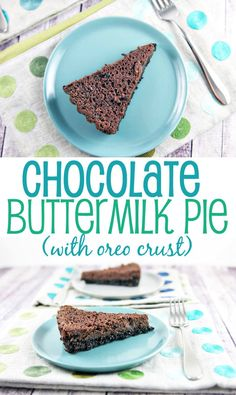 Chocolate Buttermilk Pie: sweet, custardy, and insanely chocolatey.  Dig in! {Bunsen Burner Bakery}