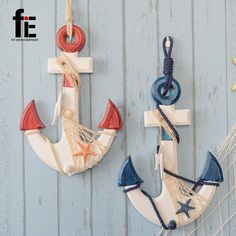 wooden crafts home anchor pendant wooden anchor sea decoration nautical party decorations anchor wood