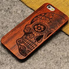 Nueva marca de lujo delgado caja del teléfono de madera de bambú para el iphone 5 5s 6 6 S 6 Más 6 S Más 7 7 Más Cubierta De Madera de Alta Calidad A Prueba de Golpes
