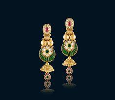 Bridal Gold Choker earring set
