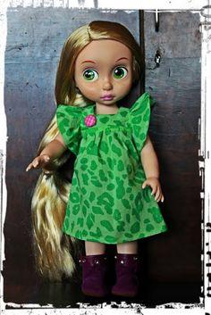 Disney Animator Doll - Rapunzel in green dress, Pattern Mekkotehdas Riine