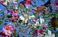 "Saatchi Online Artist: Ellen Dittebrandt; Acrylic, 2012, Painting ""Scap Book cut out """