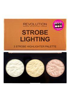 Makeup Revolution London - Paleta farduri iluminatoare Strobe Lighting, 3 culori, Strobe Lighting - Incolor Makeup Revolution London, Strobing, Lighting, 3, Popsicles, Lights, Lightning