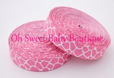 Hot Pink Giraffe Ribbon-