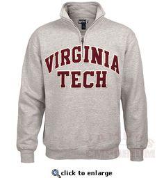 Virginia Tech Applique Quarter Zip Sweatshirt