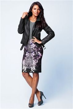 Black Biker Jacket and sequin skirt