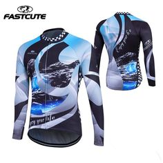 2017new 100% POLYESTER Men s Cycling Jersey Long Sleeve Outdoor Sports Bicycle  Cycle Clothing Quick Dry 30e01eb78