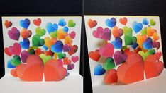 Pop up card (heart surprise) - learn how to make a greeting card with bu...
