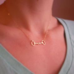 Tiny Horse Bit Necklace 14k Gold Filled or by BeauAndStella, #gold14kjewelry