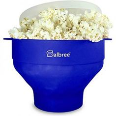 Original Salbree Microwave Popcorn Popper, Silicone Popcorn Maker, Collapsible Bowl BPA Free - 18 Colors Available (White) - Food Hot Air Popcorn Popper, Air Popper, Popcorn Bowl, Popcorn Kernels, Best Popcorn Maker, Best Microwave Popcorn, Healthy Popcorn, Flavored Popcorn, Popcorn Recipes