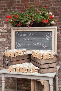 Charismatic concept for thanks Informations About idee voor bedankje . Autumn Wedding, Farm Wedding, Rustic Wedding, Dream Wedding, Wedding Day, Diy Wedding Decorations, Wedding Favors, Wedding Gifts, Deco Champetre