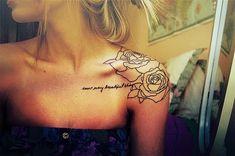 Flower outline tattoo. Love it!