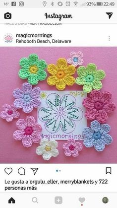 Captivating All About Crochet Ideas. Awe Inspiring All About Crochet Ideas. Crochet Puff Flower, Crochet Flower Patterns, Flower Applique, Crochet Flowers, Unique Crochet, Love Crochet, Irish Crochet, Crochet Motif, Thread Crochet