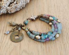 bohemian bracelet ethnic bracelet gypsy jewelry boho by OmSaha