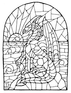 Best Stained Glass Patterns Coloring Pages-inktober 13 stained glass dragon Stained Glass Christmas, Stained Glass Crafts, Faux Stained Glass, Stained Glass Windows, Window Glass, Glass Partition, Pattern Coloring Pages, Colouring Pages, Coloring Sheets
