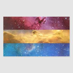 Shop Pansexual nebula flag stickers created by ArtfortheArtGod. Pansexual Flag, Gay Aesthetic, Lgbt Memes, Lgbt Love, Wall Collage, Aesthetic Wallpapers, Anime, Artwork, Aesthetics