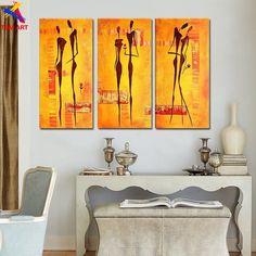Romantic Story Picture Hand Painted Modern Abstract Oil Painting on Canvas Big Wall Art Gift Unframed Home Decor Love Wall Art, Love Art, Multi Picture, Oil Painting Abstract, Art Pages, Wall Decor, Hand Painted, Romantic, Modern