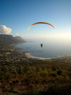 My kind of adventure! Paragliding over Cape Town, South Africa