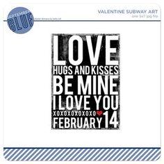 5x7 Valentine Subway Art