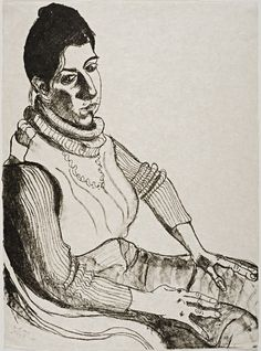 Alice Neel (American, 1900–1984) Judith Solodkin, 1978 Lithograph on paper Gift of Lenore Levine Weseley, class of 1954, and Alvin C. Weseley in honor of Josie Holford 2011.31.3