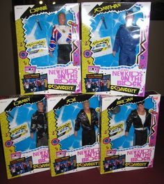 1990 New Kids On The Block toy dolls.... I had Jordan!!! <3  and I cut his rat-tail off. Best thing ever for his career ;)