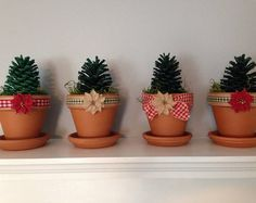 Christmas Tree Pine Cones (set of 4)