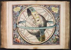 The Celestial Sphere by Andreas Cellarius - Art Print Vintage Images, Vintage Art, Vintage World Maps, Canvas Wall Art, Canvas Prints, Art Prints, Nicolas Copernic, Celestial Sphere, Auxerre