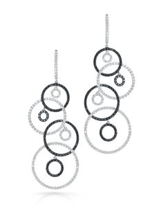 Fantasia White and Black Diamond Earrings - Roberto Coin