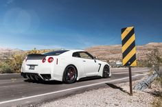 White Nissan GTR With ADV.1 Wheels and EVS Motors By William Stern