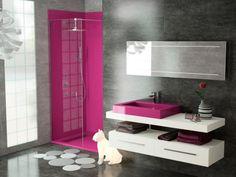 salle de bain grise et fushia | salle de bain | pinterest | small ... - Salle De Bain Gris Et Fushia