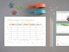 Schulanfang - Stundenplan - free printable