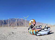 Coachella Swan Floats