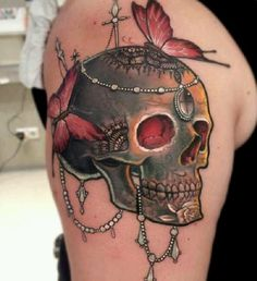 Skull Tattoos 14 - 80 Frightening and Meaningful Skull Tattoos  <3 <3