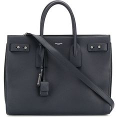 Saint Laurent Large Sac De Jour tote (€2.800) ❤ liked on Polyvore featuring men's fashion, men's bags, blue, mens leather bag, mens leather tote bag and men's tote bag