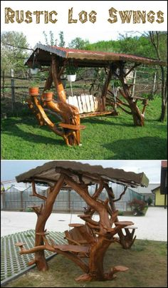 Add one of these rustic log swings to your backyard and turn it into a playground for all ages! Want one?