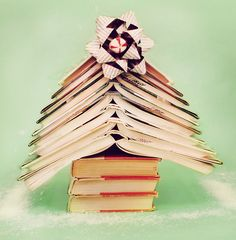 Book tree would look cool in a office or home book shelf during the holidays.