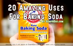 Top 20 Amazing Uses For Baking Soda - bs for life Household Cleaning Tips, Cleaning Hacks, Soda Brands, Baking Soda Uses, Diy Cleaners, Green Cleaning, Natural Cleaning Products, Natural Solutions, Utila