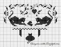 Схемы вышивки кошек