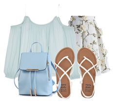 """""""Blue Blue"""" by lia-fashion on Polyvore featuring Chicwish, Elizabeth and James and Billabong"""