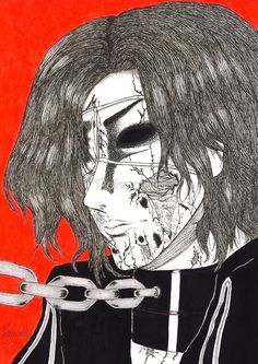 FORSAKEN by Poisonlolly. Dark gothic horror art created with pen and Chinese ink on paper. © Poisonlolly