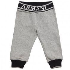 Armani Junior Baby Boys Cotton Tracksuit Trousers at Childrensalon.com