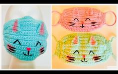 How to Crochet a Quick & Easy Face Mask Crochet Eyes, Crochet Mask, Crochet Amigurumi, Diy Crochet, Crochet Crafts, Crochet Projects, Sewing Projects, Easy Face Masks, Diy Face Mask