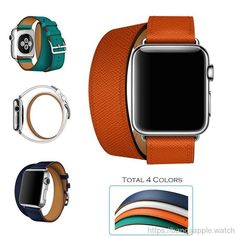 add85782db5 Double Tour Wraps band for apple watch series 2 strap Hermes watch high  quality genuine Leather