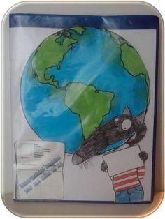 page de garde cahier de vie Loup tour du monde
