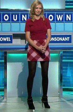 Pantyhose Outfits, Black Pantyhose, Black Tights, Nylons, Rachel Riley Bikini, Rachel Riley Legs, Sexy Older Women, Sexy Women, Rachel Riley Countdown